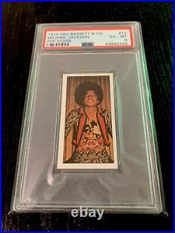 1974 MICHAEL JACKSON Geo Bassett & Co. Pop Stars #12 PSA 6 RARE CARD