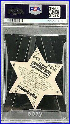 1975 Lyons Maid Michael Jackson PSA 8 Pop Stars! Pop 4! 3 Higher RARE
