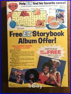 1982 E T VINTAGE SEALED UNOPENED CEREAL BOX New Series 2 MICHAEL JACKSON RARE