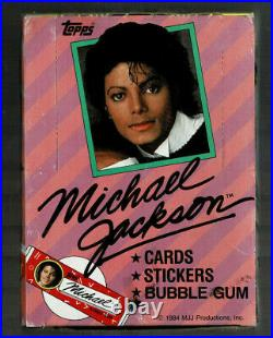 1984 Michael Jackson Box 36 Packs 3 Cards 3 Stickers 1 Gum Possib Rare Red Lips