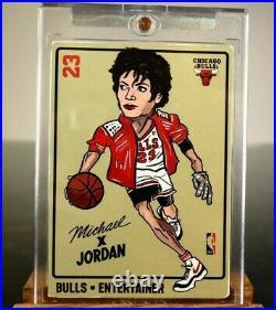1984 Michael Jordan x Michael Jackson Rookie RC Chicago Bulls Rare NO 1986 Fleer
