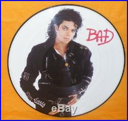 1987 Pepsi Presents Michael Jackson Bad 12 Lp Picture Disc Vinyl Record Rare
