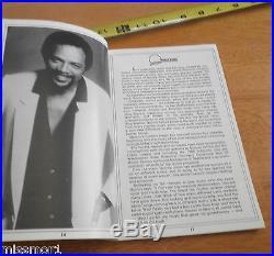 1988 Michael Jackson Tribute program and crew script folder Natalie Cole RARE