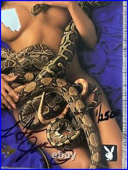 1994 Playboy Celebrity Latoya Jackson Auto 1/2500 Signed Rare Michael Janet Read