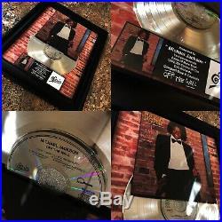 6 VERY RARE! Michael Jackson Platinum Record Music Award Album Disc