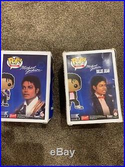 DAMAGED Michael Jackson Funko Pops x2 NOT MINT Vaulted Rare