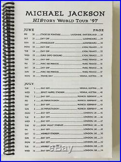 History Tour 1997 Crew Book Brand New! Very Very Rare- Michael Jackson