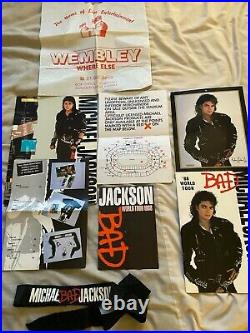 Incredibly Rare Michael Jackson BAD Tour Merchandise From Tour Wembley