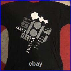 Janet jackson RARE orig vintage T-shirt rhythm nation tour Michael 1814 lp paris