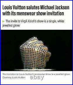 LOUIS VUITTON Handschuh AW 2019 MICHAEL JACKSON Glove VIRGIL ABLOH Rare VIP