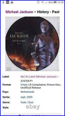 Lot 3 picture disc History PastPresentFuture michael jackson rare not continious