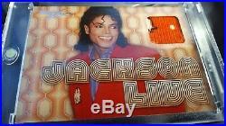 MICHAEL JACKSON 2011 Panini JACKSON LIVE APPAREL 3 COLOR SWATCH! JL1 Very Rare