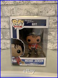 MICHAEL JACKSON #23 RARE VAULTED BEAT IT FUNKO POP! VINYL FIGURE, 100% Genuine