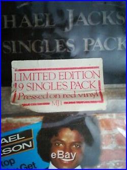 MICHAEL JACKSON 9 SINGLES PACK ON RED VINYL. Very rare