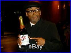 MICHAEL JACKSON BAD 25 BOTTLE CHAMPAGNE VERY RARE PROMO smile signed award lp cd