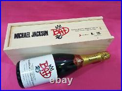 MICHAEL JACKSON BAD 25 RARE PROMO CHAMPAGNE lp cd smile award signed autograph