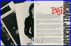 MICHAEL JACKSON BAD TOUR BOXSET PRESS KIT Dirty Diana CD Photos Rare refRC. 1