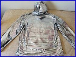 MICHAEL JACKSON ONE Diamond Silver Light Up Hoodie Cirque Du Soleil XXL Rare