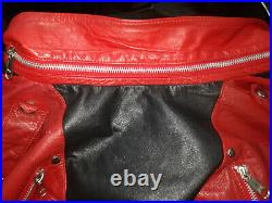 MICHAEL JACKSON Rare 1980s BEAT IT J. Park Collection Leather Jacket Zippers sz S