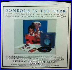 MICHAEL JACKSON Someone In The Dark White Label Promo 45 + Rare E. T. Pic Sleeve