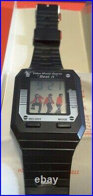 MICHAEL JACKSON Super Star Video Music Beat It Watch Rare 1984 NEW OLD Stock