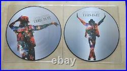 MICHAEL JACKSON This Is It 2 x LP picture disc set RARE Mint