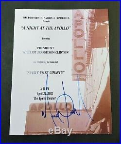 MICHAEL JACKSON ULTRA RARE A NIGHT AT THE APOLLO SIGNED PROGRAM AUTOGRAPH smile