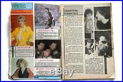 Madonna On Cover Michael Jackson 1985 Rare Exyugo Magazine