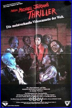 Making Michael Jackson's Thriller Rare German Video Promo Poster NM Condition