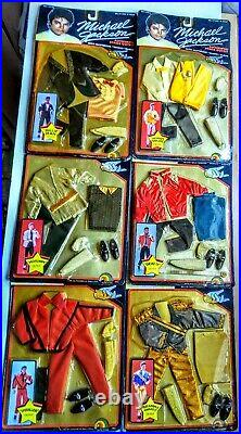 Michael Jackson 12 Doll Stage Outfits 1984 Sets (6) rare un opened sealed MJ