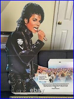 Michael Jackson 1988 Bad Tour Contest Pepsi Stand Up Display Mega Rare Concert