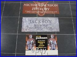 Michael Jackson 3 x History / Moonwalker 3D Display Stand up Unused Mega Rare