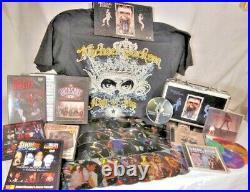 Michael Jackson 5, HUGE lot of music CDs, movie DVDs, T-shirt, rare interviews