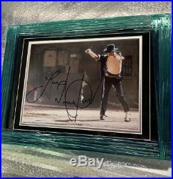 Michael Jackson Autographed 11x14 PSA Cert Inscribed Love RARE GREAT PIECE