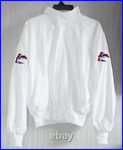 Michael Jackson BAD Tour 1988 White Bomber Jacket (Pepsi Japan Promo) VTG RARE