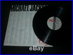Michael Jackson Bad LP Pepsi Tour 1988 SWEDEN PROMO Very rare