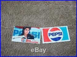 Michael Jackson Bad Tour Concert Pepsi 1988 Japan Plastic Banner Flags MEGA RARE