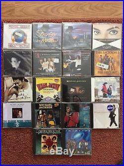 Michael Jackson CD Lot (18) New and New Condition Some Rare CD's