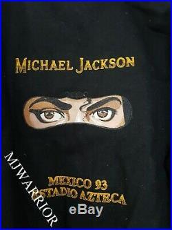 Michael Jackson CREW jacket Dangerous world tour MEXICO concert MEGA RARE SMILE