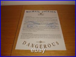 Michael Jackson Dangerous World Tour 1992 German Press Kit Concert MEGA RARE