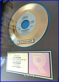 Michael Jackson EPIC AWARD OFF THE WALL Gold Single To Epic Records! RARELY