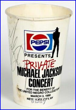 Michael Jackson Extremely Rare Signed Pepsi Cup from His 1988 Private Concert