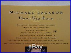 Michael Jackson Gone Too Soon 1993 Epic Us Promo CD Single Esk5562 Very Rare Oop