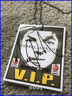 Michael Jackson Hand Signed Autograph Vip Virgin Megastore Pass Mega Rare