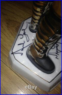 Michael Jackson Hand Signed Autographed History Gold Statue Coa Loa & Pics Rare
