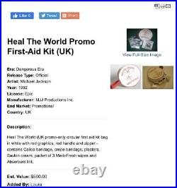 Michael Jackson Heal The World Promo First-Aid Kit (UK) Promo Rare
