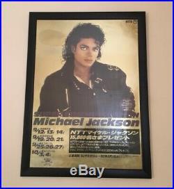 Michael Jackson Japan Tour gold promo poster. Mega rare