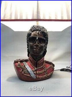 Michael Jackson Lamp Ultra Rare Thriller Glasses Best One Vintage Shade
