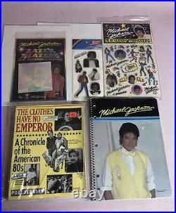 Michael Jackson Large Lot Of Memorabilia DVD CD Cassette Book Rare Vintage MJB