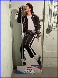 Michael Jackson Limited Edition Pepsi Advertisement Cardboard Cutout 6ft! RARE